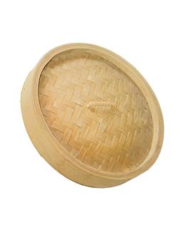 deckel maxi dampfgarer Ø 30x3 cm natur bambus (4 einheit)