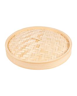 couvercles maxi dim-sum Ø 30x3 cm naturel bambou (4 unitÉ)