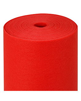 tablecloth pre-cut 120 cm 'spunbond' 60 gsm 1,20x50,4 m red pp (1 unit)