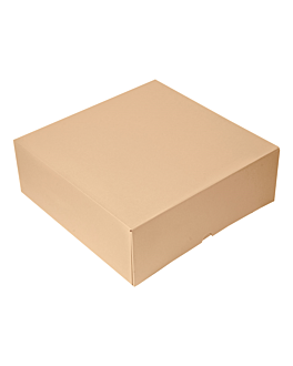 cake boxes without window 'thepack' 240 gsm 28x28x10 cm natural nano-micro corrugated cardboard (100 unit)
