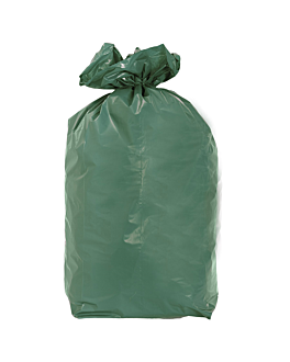 20 u. garbage bags 110 l 70µ 70x110 cm green peld (5 unit)