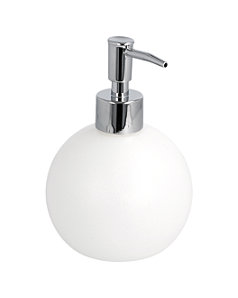 soap dispenser 500 ml 10x16 cm white abs (1 unit)
