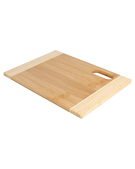 cutting board two-colored 16x22x0,9 cm natural bamboo (1 unit)