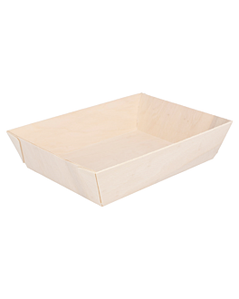 lunch containers 18x13x4 cm natural wood (50 unit)