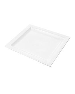 platos rectangulares 32x28,5 cm blanco porcelana (6 unid.)