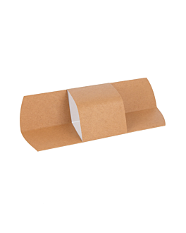 wrapping roller for sandwich 300 gsm 10,5x23 cm brown cardboard (1000 unit)