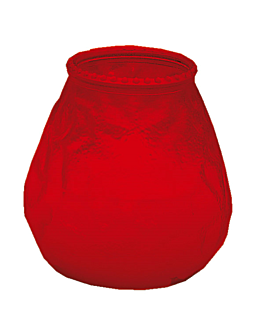 candles in glass 'monarch - popular' 9,5x9,5 cm red paraffin (24 unit)