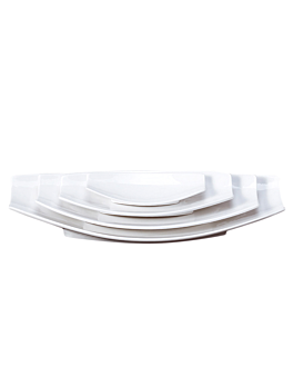 platos barquilla 26,2x13x3,7 cm blanco porcelana (6 unid.)