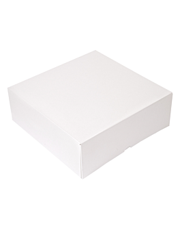 cake boxes without window 'thepack' 250 gsm 28x28x10 cm white nano-micro corrugated cardboard (100 unit)