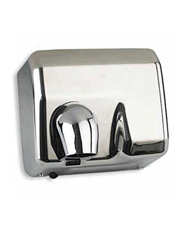 "electric hand-dryer 58 l"" 65ºc 24x28x21,5 cm silver stainless steel (1 unit)"