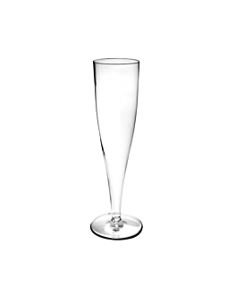 "injected ""champagne"" flutes 125 ml Ø 4,9x20 cm clear cristal ps (100 unit)"