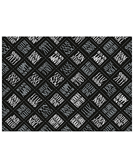 mantelines 'black & silver' 48 g/m2 31x43 cm negre cel·lulosa (2000 unitat)