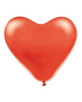 """100 u. globos """"corazÓn"""" Ø 31 cm rojo lÁtex (1 unid.)"""