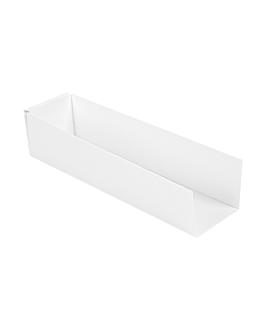 pelles hot dog 'thepack' 230 g/m2 18x4,5x4 cm blanc carton ondulÉ nano-micro (1200 unitÉ)