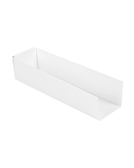 server hot dog 'thepack' 230 gsm 4,7x18,2x4 cm white nano-micro corrugated cardboard (1200 unit)
