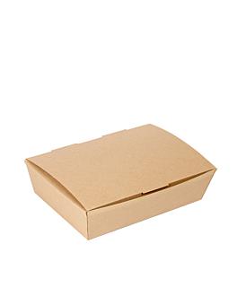 "boÎtes ""lunch box"" couvercles 'thepack' 220 g/m2 21x18x5,5 cm naturel carton ondulÉ nano-micro (360 unitÉ)"