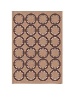 100 hojas din a4 24 etiquetas redondas Ø 4,2 cm kraft (1 unid.)