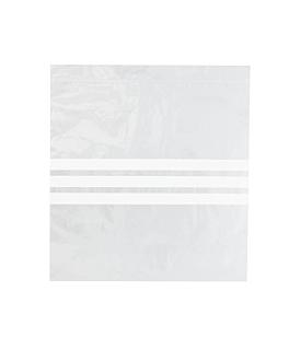 sacs 3 franges auto-fermeture 92 g/m2 50µ 27x27 cm transparent peld (500 unitÉ)