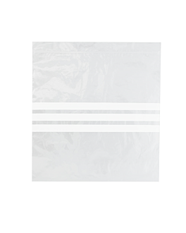 bolsas 3 franjas autocierre 92 g/m2 50µ 27x27 cm transparente peld (500 unid.)