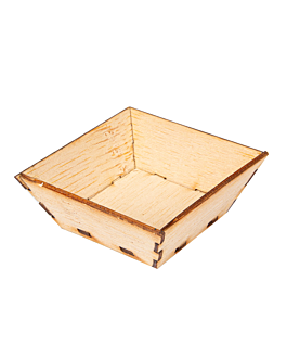 mini containers for appetisers 5x5x2 cm natural bamboo (400 unit)