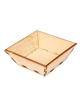 mini rÉcipients pour mise en bouche 5x5x2 cm naturel bambou (400 unitÉ)