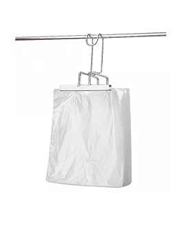 100 u. multipurpose bags 10µ 24x30+3 cm clear pehd (1 unit)