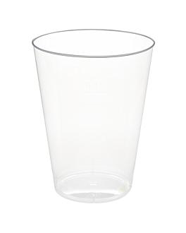 vasos inyectados 200 ml Ø 7,5x9,7 cm transparente cristal ps (1000 unid.)