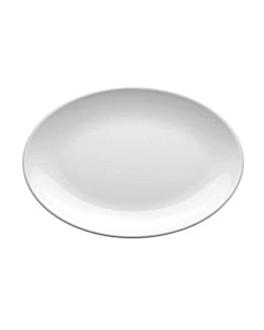 assiettes ovales 46x32 cm blanc melanine (12 unitÉ)