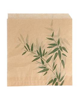 sachets ouverts 2 cÔtes 'feel green' 34 g/m2 17x18 cm naturel parch.ingraissable (500 unitÉ)