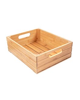 scatola buffet gn 1/2 32,5x26,5x10 cm naturale bambÙ (1 unitÀ)