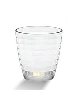 textured cups 370 ml Ø 8,5x11,4 cm clear polycarbonate (72 unit)