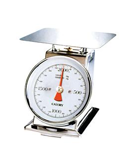 bilancia da cucina meccanica 4 kg 21,7x14x20,4 cm argento acciaio inox (1 unitÀ)