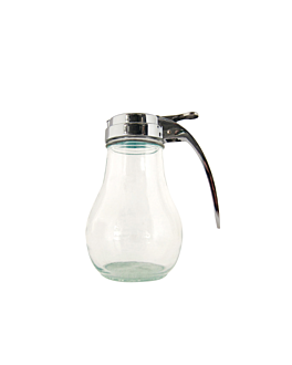 dispensador jarabes 220 ml 7x7x9,3 cm transparente cristal (1 unid.)