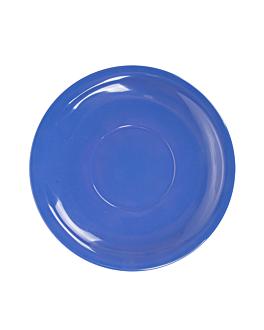 coffee saucers Ø 13,8 cm blue melamine (12 unit)