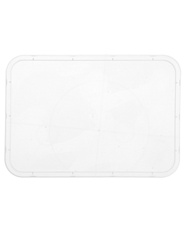 lids for containers items 128.61/62/63/64 17,5x12,4 cm clear pp (500 unit)