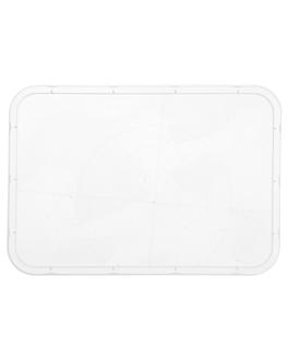 tapas para cÓdigos 128.61/62/63/64 17,5x12,4 cm transparente pp (500 unid.)