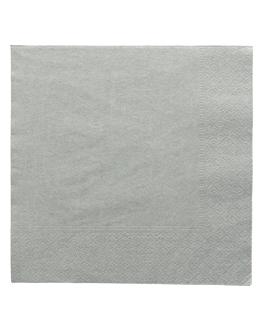 serviettes ecolabel 2 plis 18 g/m2 39x39 cm gris ouate (1600 unitÉ)