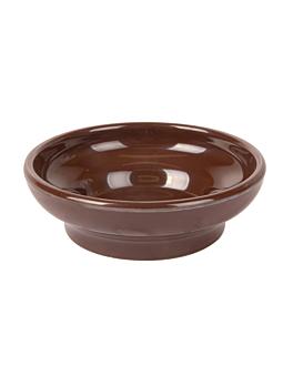 sauce bowls 150 ml Ø 10,2 cm brown melamine (48 unit)
