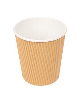 hot drink cups double wall, corrugated 180 ml 260 + 250 + 18 pe g/m2 Ø7,2/5,3x7,8 cm brown cardboard (1000 unit)