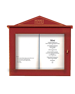 porta menÚs luminoso 60x65x8 cm burdeos madera (1 unid.)