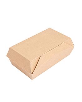 "cajas ""lunch box"" paperlock 'thepack' 220 g/m2 19,5x12,5x7 cm natural cartÓn ondulado nano-micro (300 unid.)"
