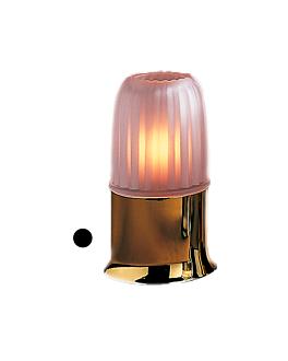 """base mat """"casual lamps"""" Ø 9x6,5 cm dore metal (1 unitÉ)"""