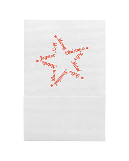 "servilletas mini servis ""christmas"" 1 capa 20 g/m2 17x17 cm blanco celulosa (9600 unid.)"