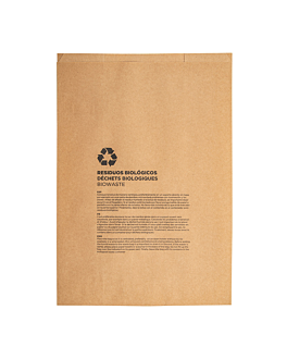 compostable bags 8 l 70 gsm 26+14x35 cm natural kraft (500 unit)