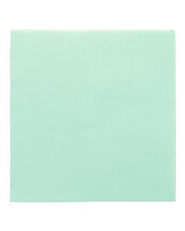 servilletas ecolabel 'double point' 18 g/m2 33x33 cm verde agua tissue (1200 unid.)