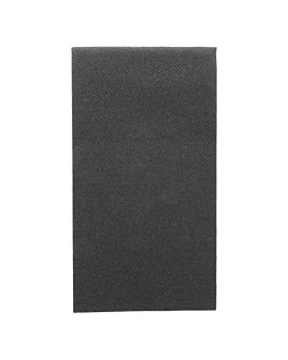 servilletas plegado 1/8 55 g/m2 40x40 cm negro airlaid (750 unid.)