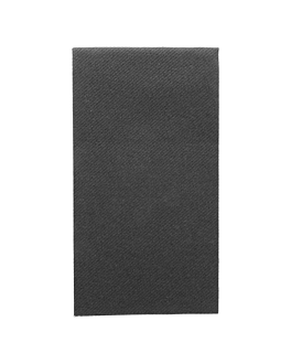 napkins 1/8 folded 55 gsm 40x40 cm black airlaid (750 unit)
