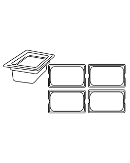 gastronorm pan 1/4 3,8 l 26,5x16x15 cm silver stainless steel (1 unit)