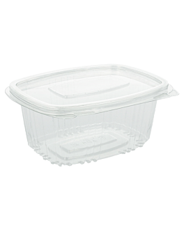 containers + lid 375 ml 13,2x9,5x6 cm clear rpet (600 unit)