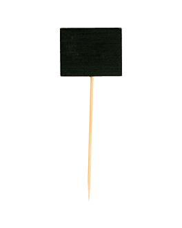 "picks ""pizarra"" 9 (h) cm negro bambÚ (100 unid.)"